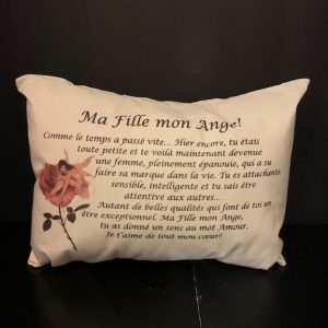 coussin fille mon ange